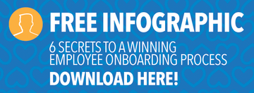 6 SECRETS TO A WINNING EMPLOYEE ONBOARDING PROCESS FREE INFOGRAPHIC