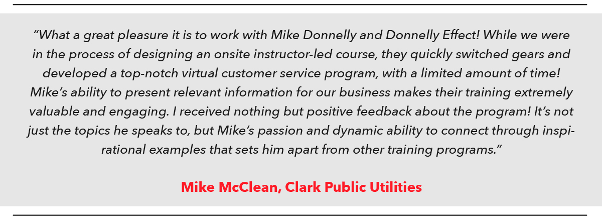 Online Training Review_Mike McClean_Clark Public Utilities